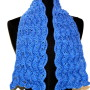 """Blue Heather Fan Lace Scarf - 42"""""""