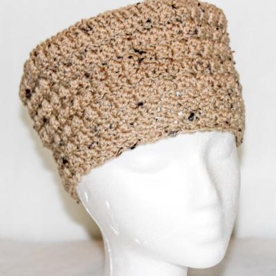 textured pillbox hat - left look