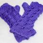 dk lavender cable twist gloves