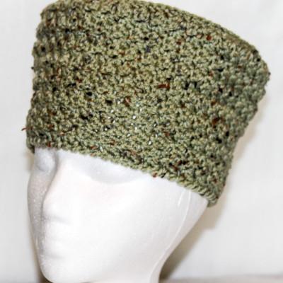 frosty green fleck pillbox crown hat